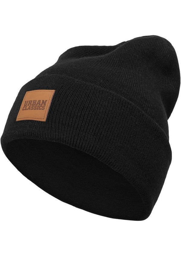 Urban Classics Leatherpatch Long Beanie