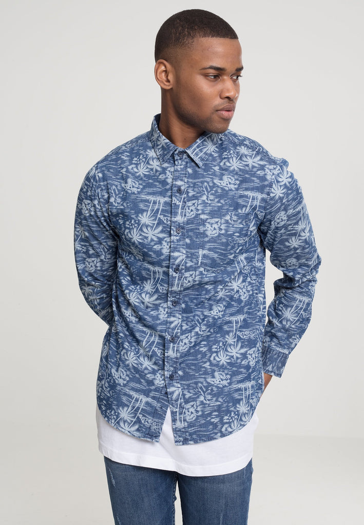 Urban Classics Printed Palm Shirt hos Stillo