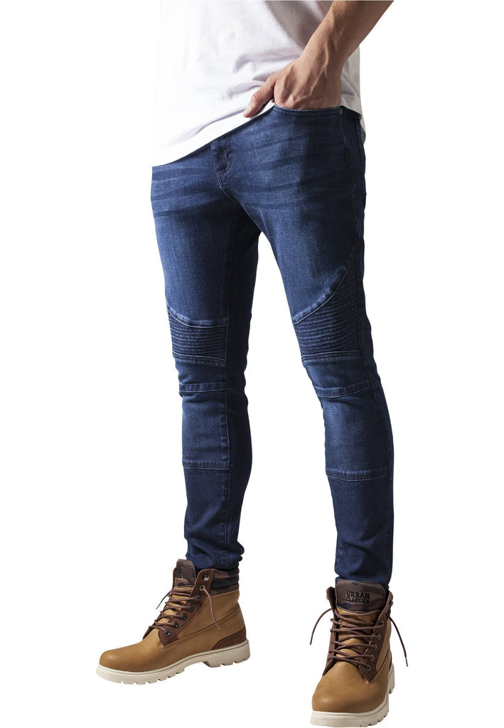 Urban Classics Slim Fit Biker Jeans hos Stillo
