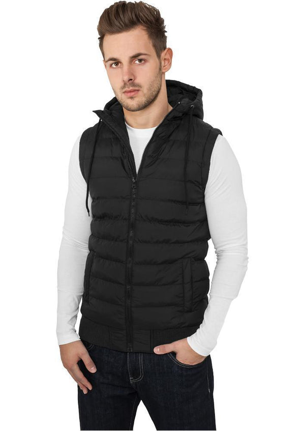 Urban Classics Small Bubble Hooded Vest hos Stillo