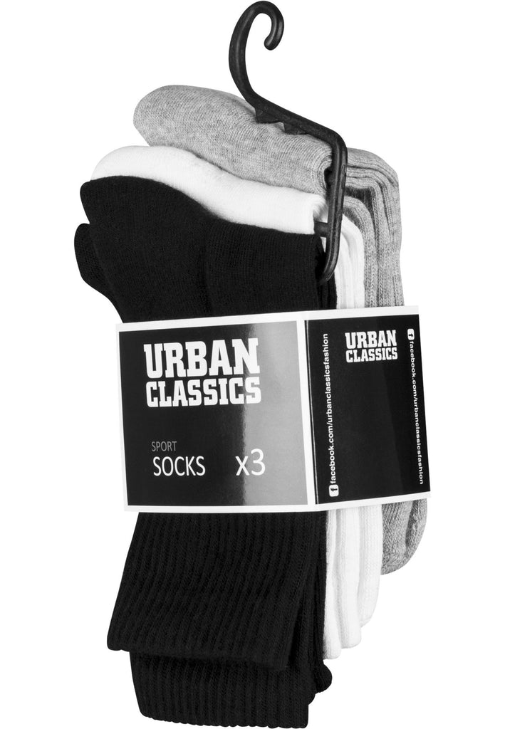 Urban Classics Sport Socks 3-Pack hos Stillo