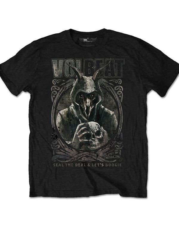 Volbeat Goat with skull T-Shirt hos Stillo