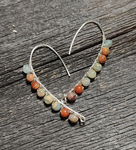 Aqua Terra Jasper Drop Earrings / Made to Order