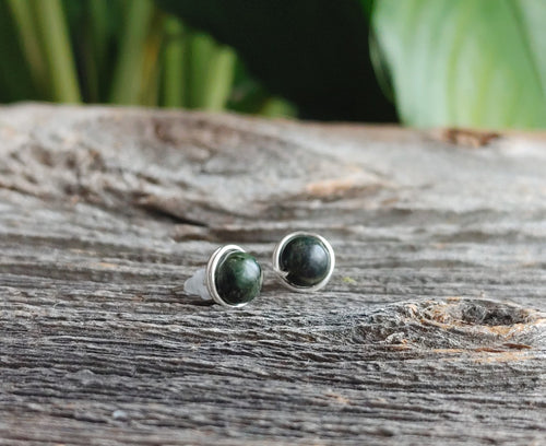 serpentine stone stud earrings protective energy stone