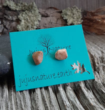 lake michigan beach stone stud earrings silver studs