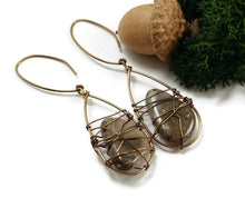 fossilized coral petoskey stone earrings, lake michigan beach stone earrings