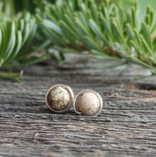 picture jasper stud earrings earthy stone jewelry