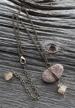 stone oil diffuser necklace, lake superior sandstone diffuser necklace, citrine beads
