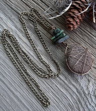 antique brass wire wrapped sandstone necklace, stone diffuser necklace with natural stone beading