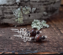 sterling silver drop stone earrings earthy jasper jewelry