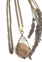 shell beaded diffuser necklace essential oil stone