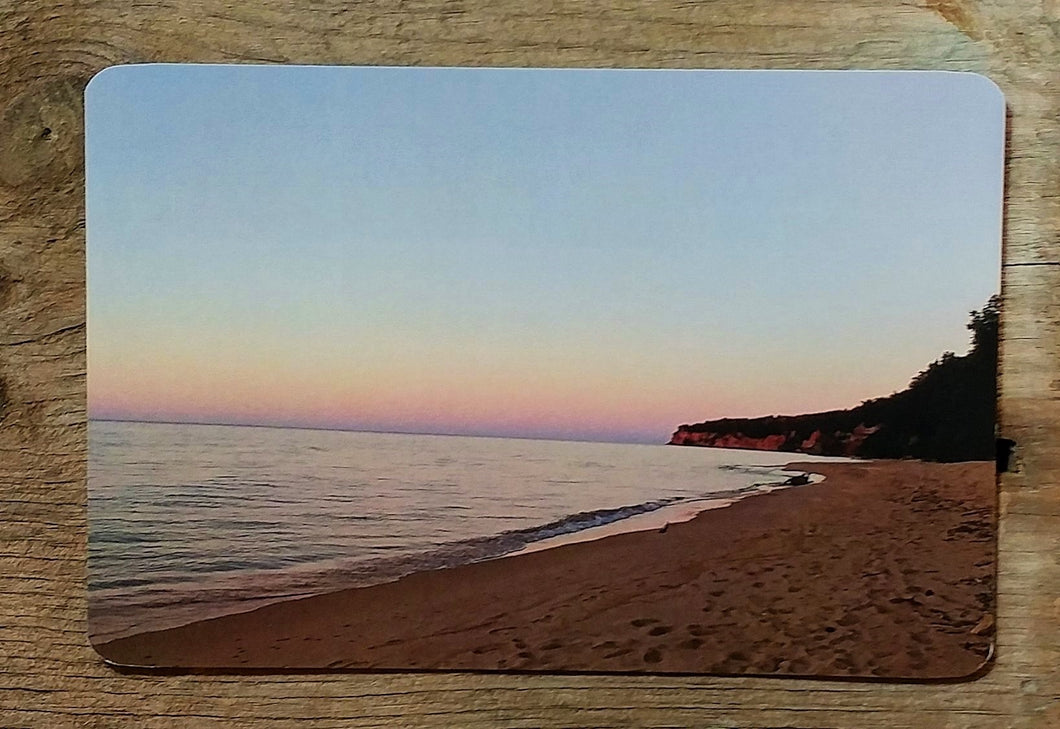 nature postcard grand island setting sun beach postcard