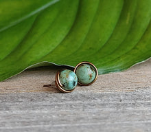 earthy-stud-earrings-wire-wrapped-turquoise