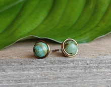 turquoise-stud-earrings-antique-brass-wire