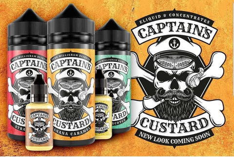 Captains Custard 50ml Shortfill