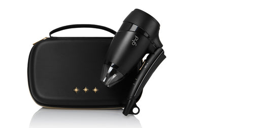 ghd flight® travel hair dryer gift set With a free travel hard case for easy packing.
