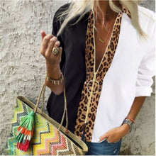 Colorblock Gold Loop Zip Blouse