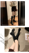 Tall Black Lace-up Boots