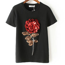 Sequin Rose Tee