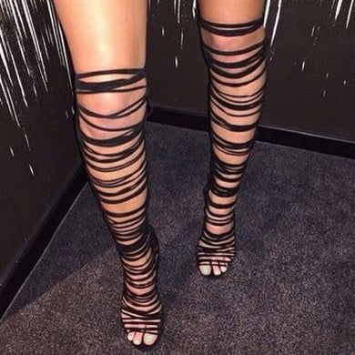 Kelly Knee High Roman Sandals