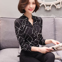 Long-Sleeve Chiffon Blouse