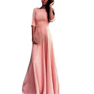 Pink Women High Waist Long Party Ball