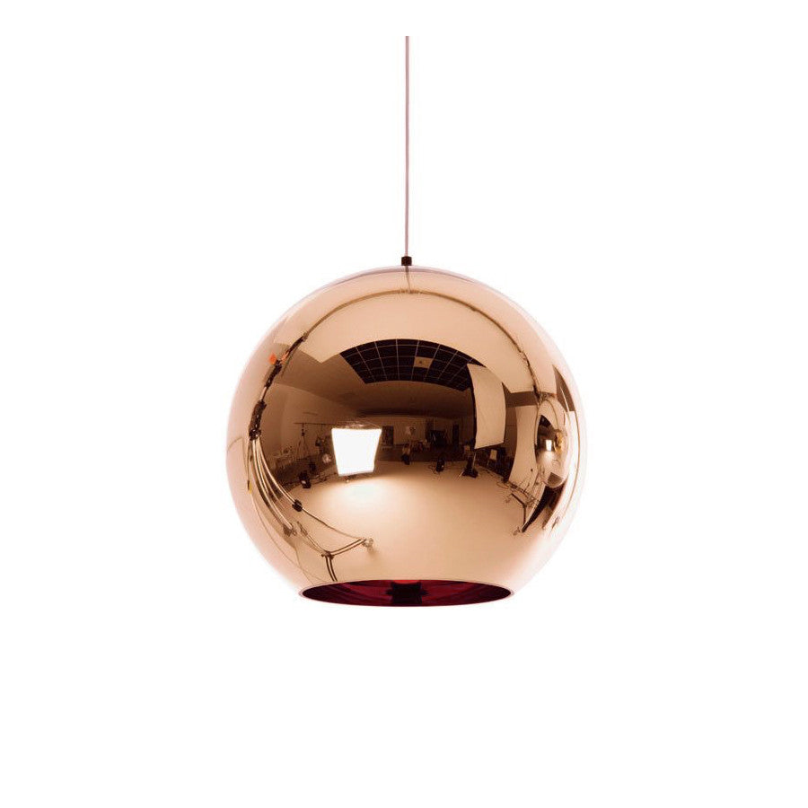 Modern Copper/Silver/Gold Glass Ball Pendant