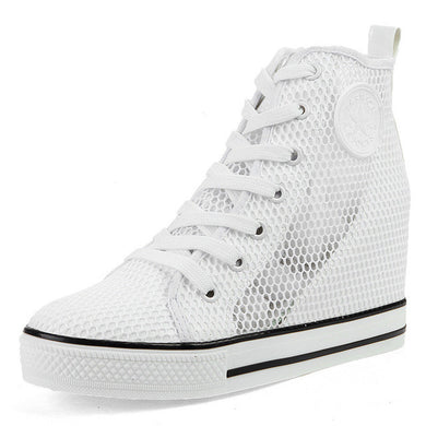 Mesh High Top Wedges