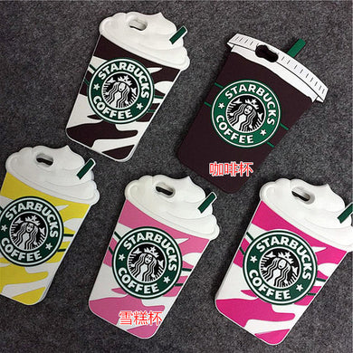 3D Coffee Cup Phone Case for iOS and Samsung