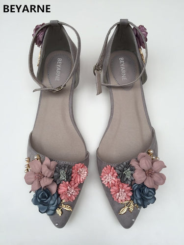 Floral Buckled Flats