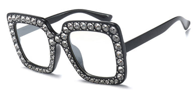 Peekaboo Oversized Rhinestone Shades (6 Colors)