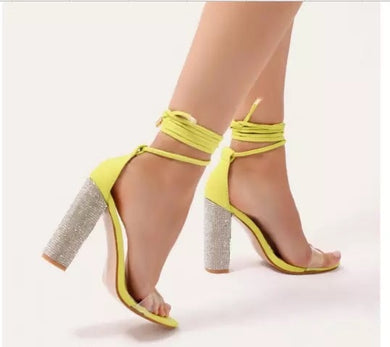 Aneikeh High Crystal Heeled Platform
