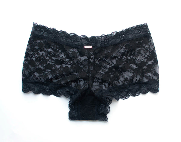 Midnight Lace Brazilian Shortie