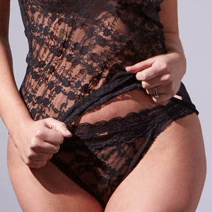 Midnight Lace Thong