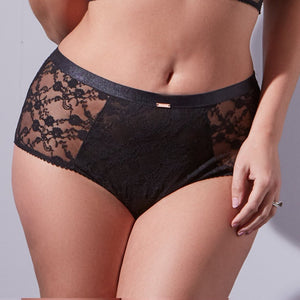 Midnight Lace High Waisted Brief