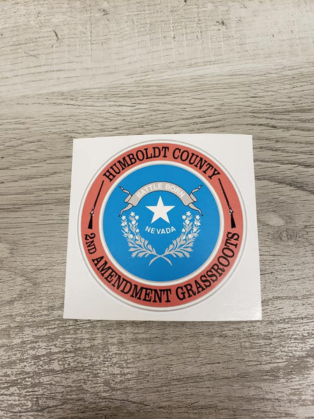 "Humboldt County 2nd Amendment Grassroots - 3"" Decal"