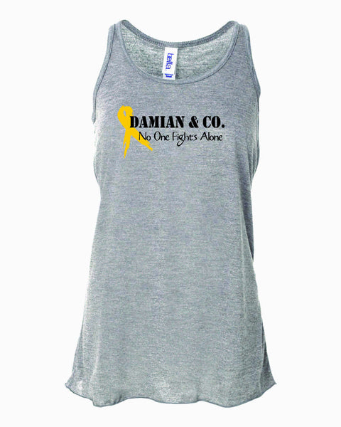 Damian & Co.  No One Fights Alone - Fundraising Tank Top - Ladies Fit