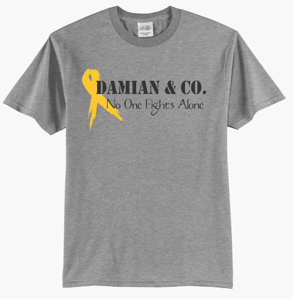 Damian & Co.  No One Fights Alone - Fundraising T-Shirt