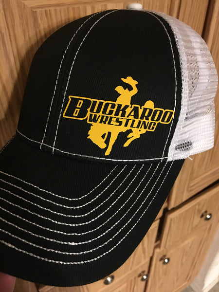 Buckaroo Wrestling {Heavy Cotton Twill Front Trucker Cap}