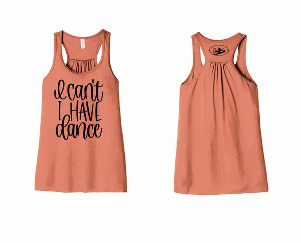 {I CAN'T I HAVE DANCE}   Bella Flowy Racerback Tank