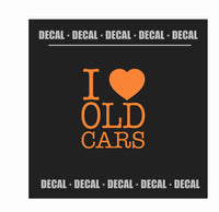 Decal - I LOVE {HEART} OLD CARS