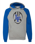 LF - Lowry Football JERZEES - Nublend® Colorblocked Raglan Hooded Sweatshirt - 96CR