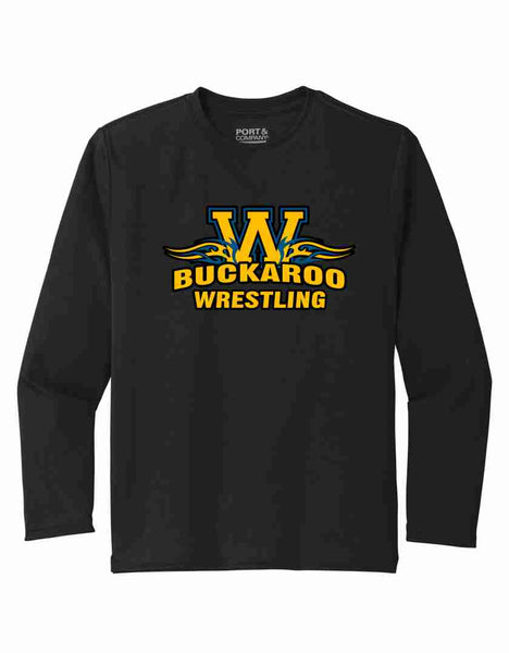 Buckaroo Wrestling Port & Co Long Sleeve Performance Tee