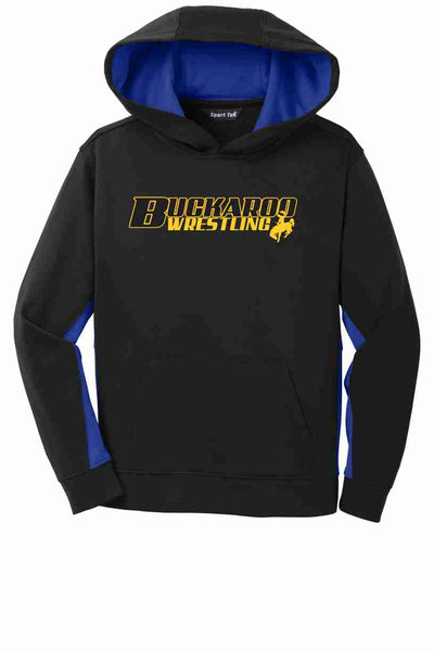 Buckaroo Wrestling - Sport-Tek® Sport-Wick® Fleece Colorblock Hooded Pullover