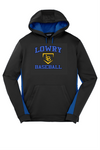 Lowry Baseball 2019 Sport-Tek® Sport-Wick® Fleece Colorblock Hooded Pullover