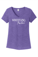 Wrestling Auntie - District ® Women's Perfect Tri ® V-Neck Tee