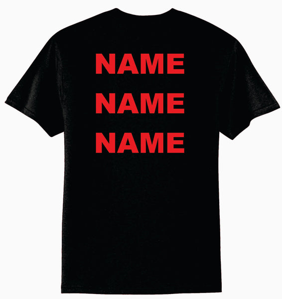 Personalization For Shirt Back - Three Names