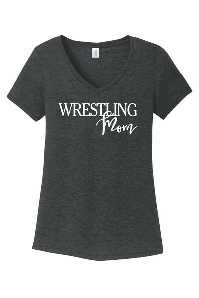 Wrestling Mom - District ® Women's Perfect Tri ® V-Neck Tee {Wrestling} {Wrestling Mom}