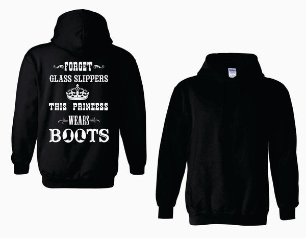 This Princess Wears Boots - Adult Heavy Blend Hooded Sweatshirt
