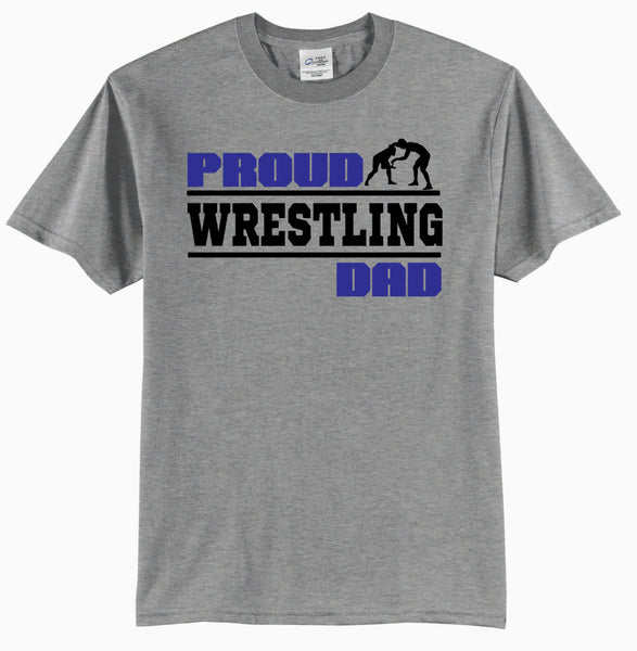 Proud Wrestling Dad - Adult T-Shirt